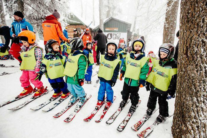 Skijanje za predškolsku djecu — Sljeme