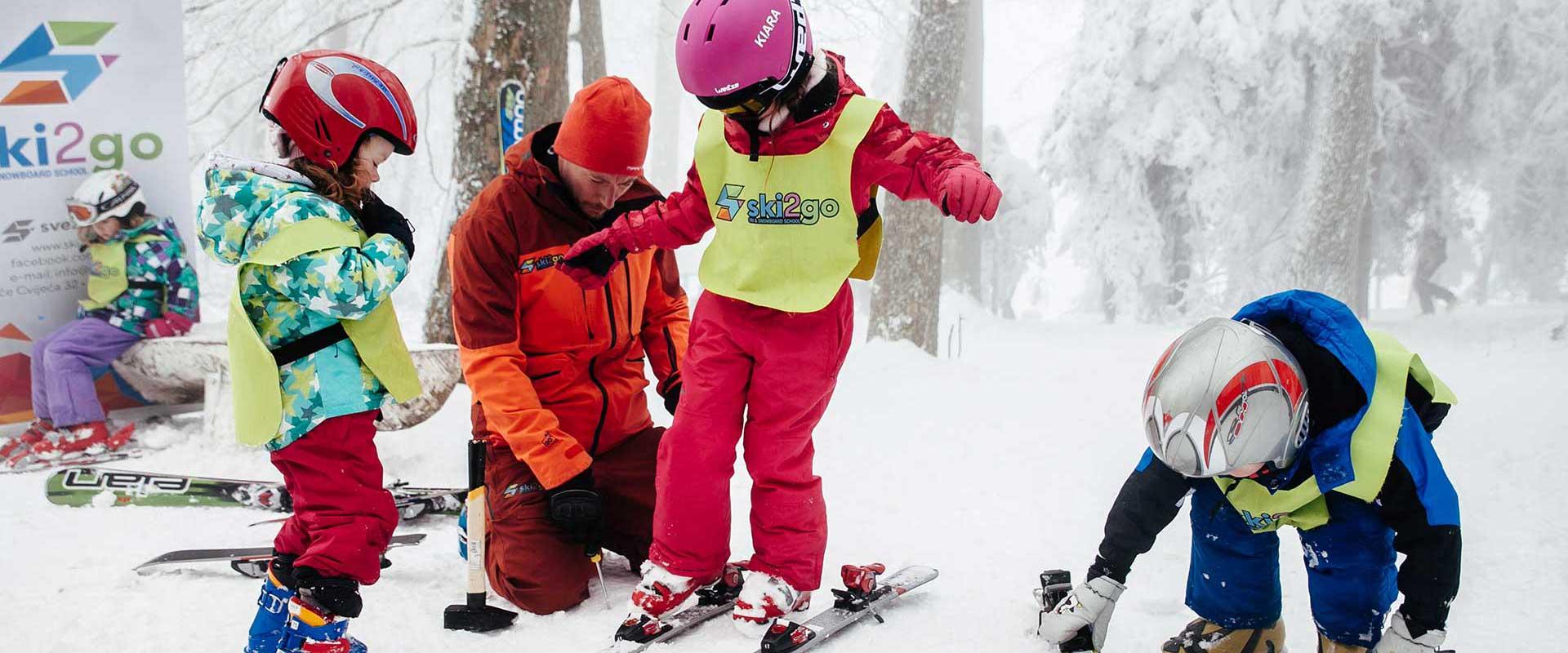 Skola skijanja djeca ski2go